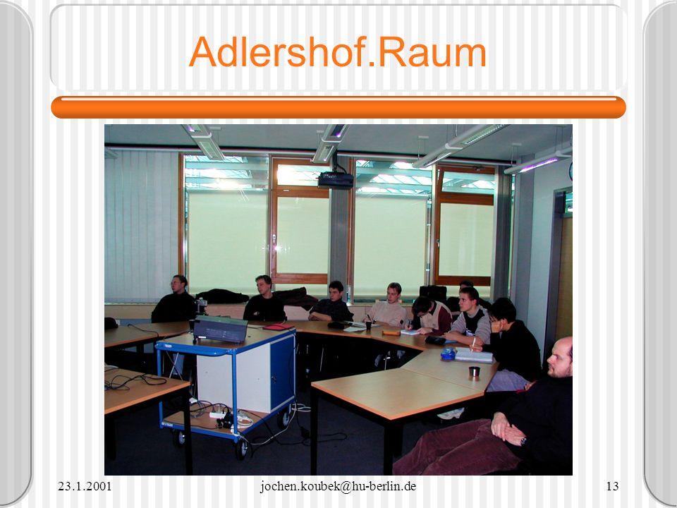 Adlershof.Raum 23.1.2001 jochen.koubek@hu-berlin.de