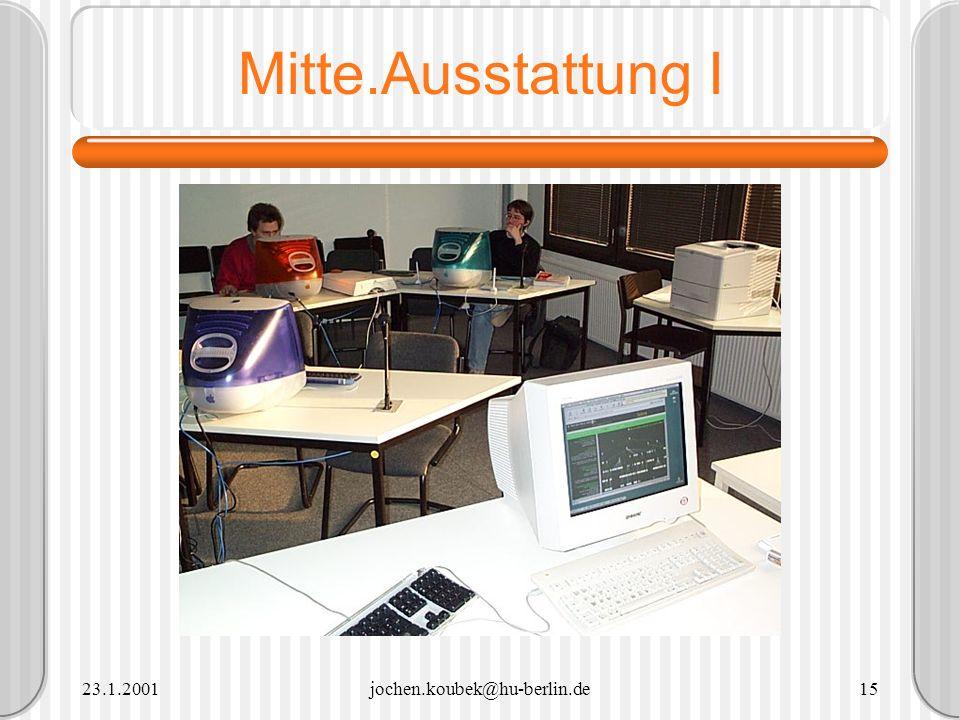 Mitte.Ausstattung I 23.1.2001 jochen.koubek@hu-berlin.de