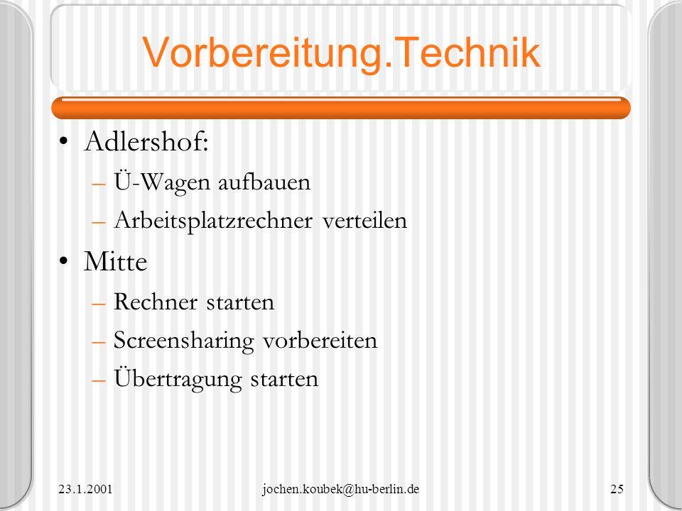 Vorbereitung.Technik Adlershof: Mitte Ü-Wagen aufbauen