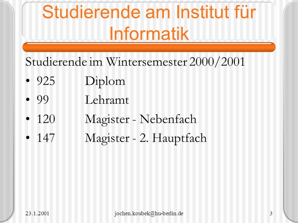 Studierende am Institut für Informatik