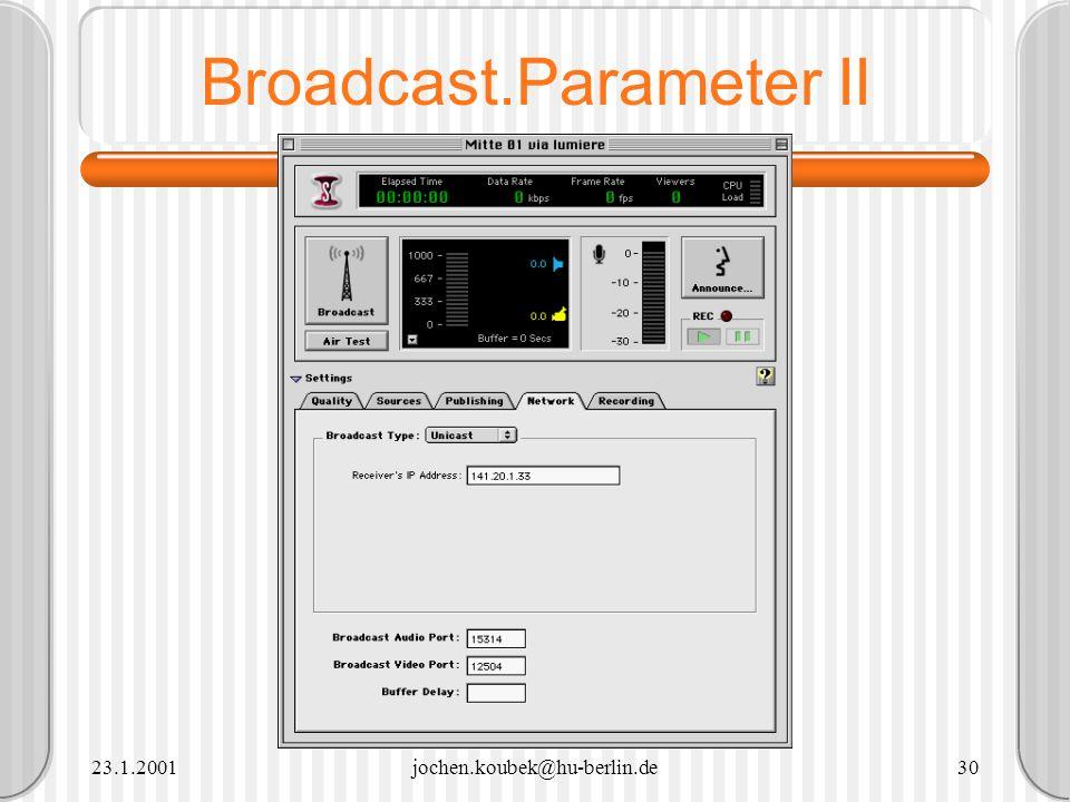 Broadcast.Parameter II