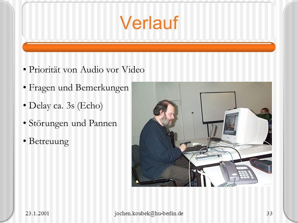 Verlauf Priorität von Audio vor Video Fragen und Bemerkungen