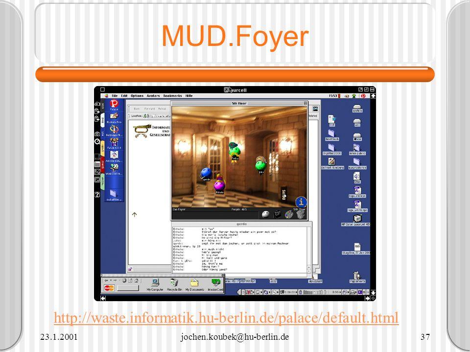 MUD.Foyer http://waste.informatik.hu-berlin.de/palace/default.html