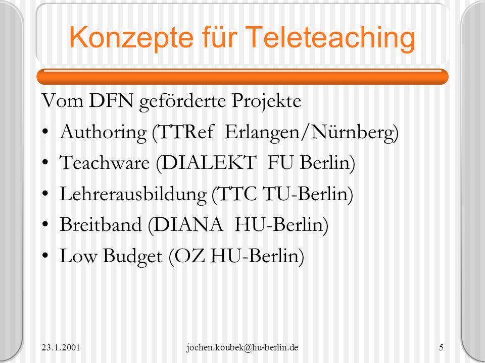 Konzepte für Teleteaching