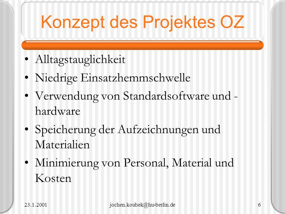 Konzept des Projektes OZ