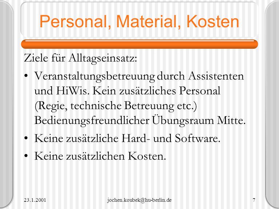 Personal, Material, Kosten