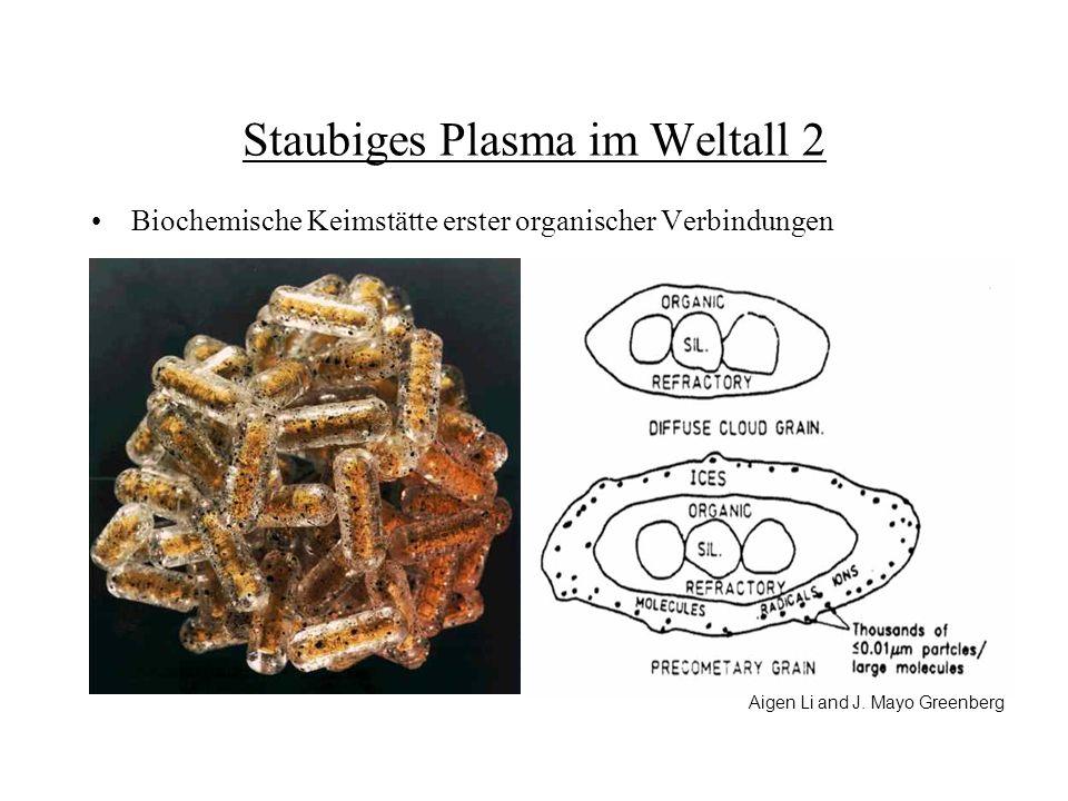 Staubiges Plasma im Weltall 2