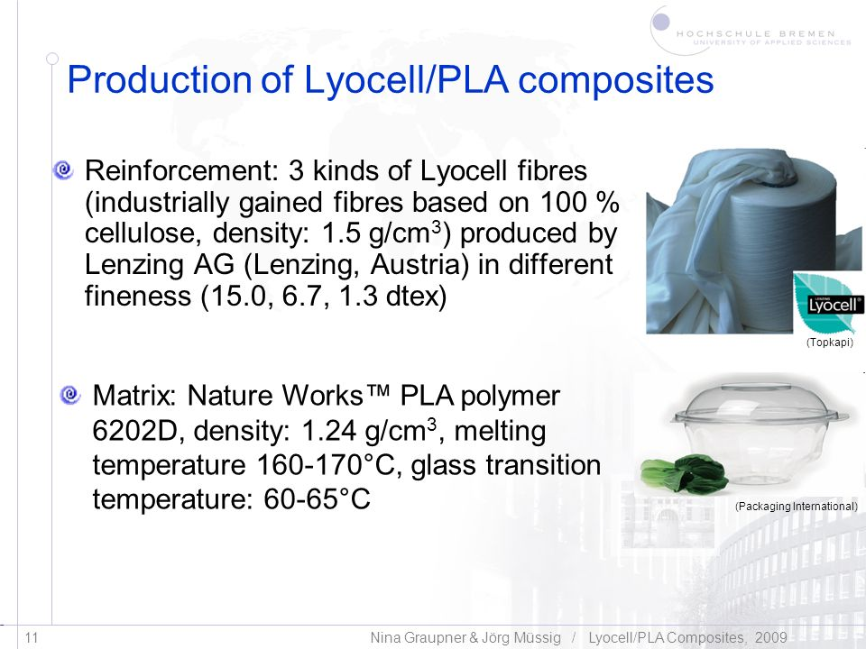 Production of Lyocell/PLA composites