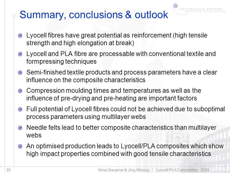 Summary, conclusions & outlook