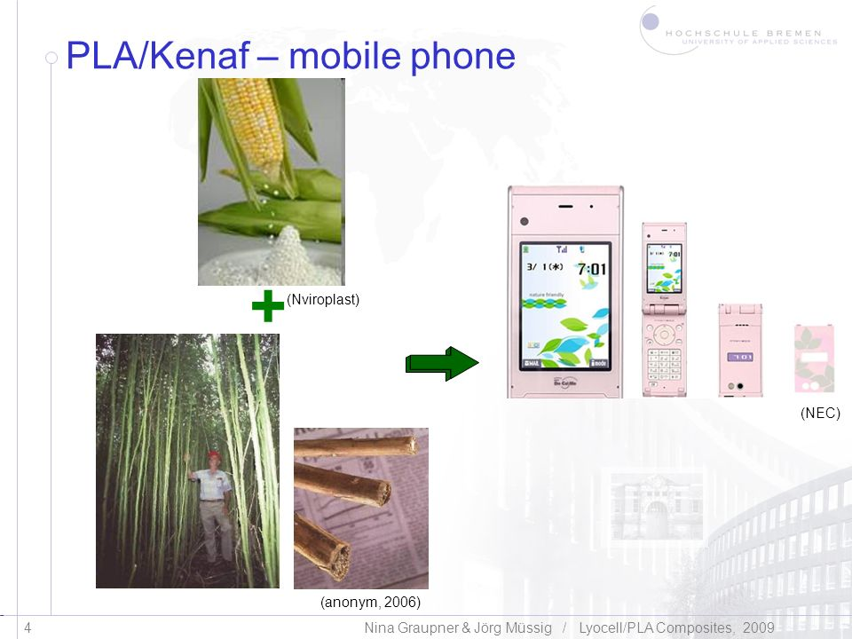 PLA/Kenaf – mobile phone