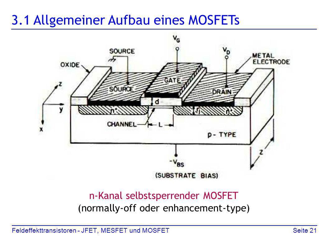 3.1 Allgemeiner Aufbau eines MOSFETs