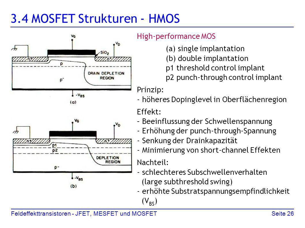 3.4 MOSFET Strukturen - HMOS