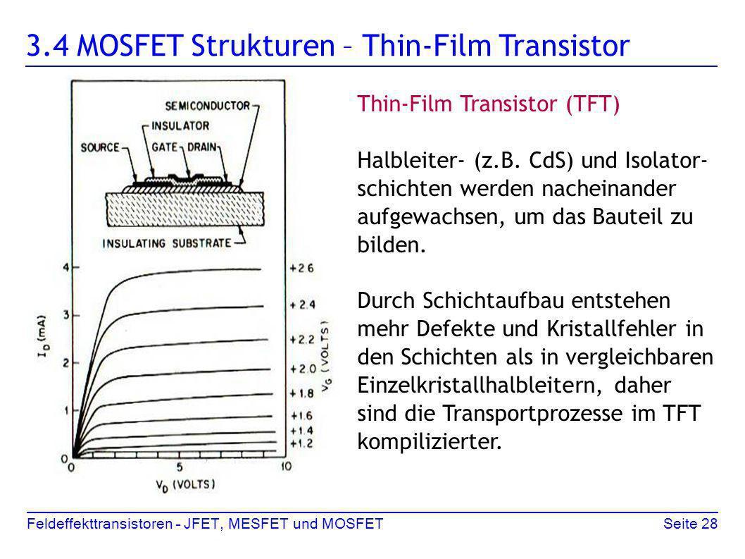3.4 MOSFET Strukturen – Thin-Film Transistor