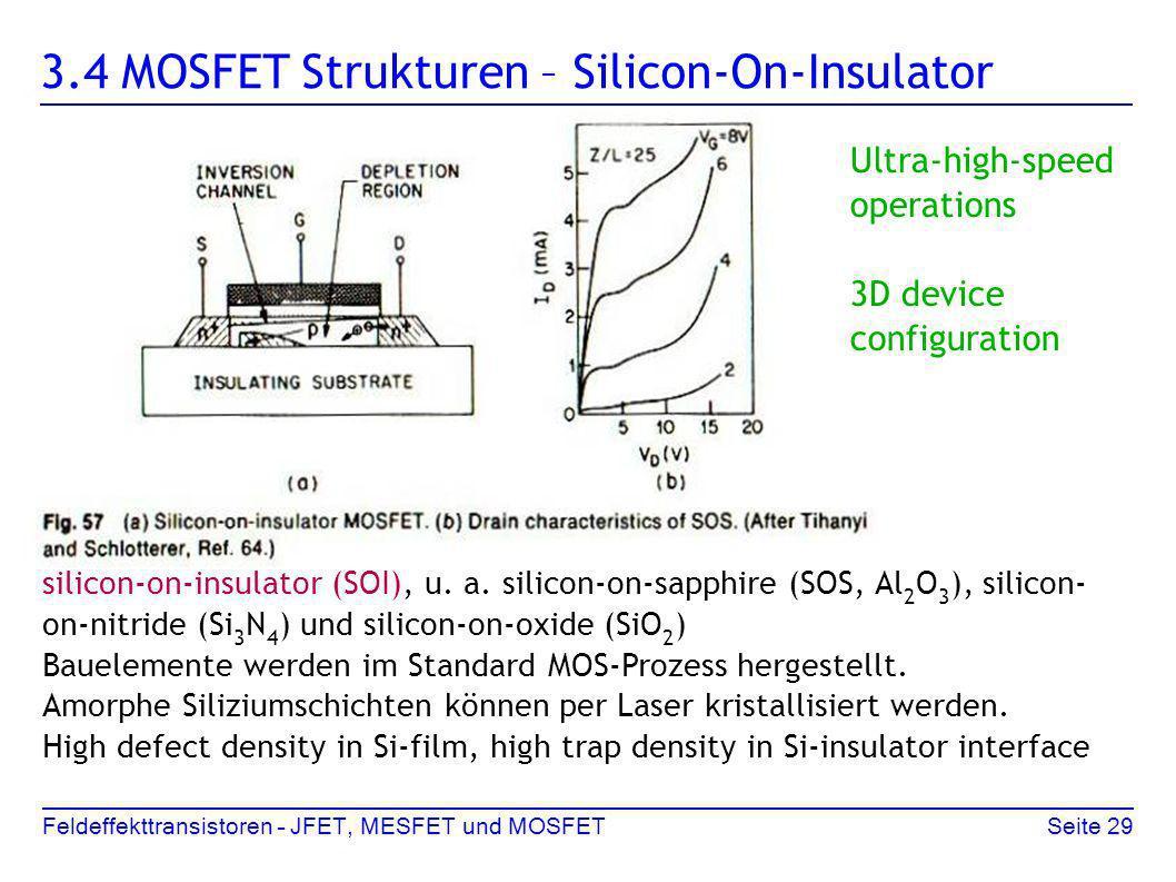 3.4 MOSFET Strukturen – Silicon-On-Insulator