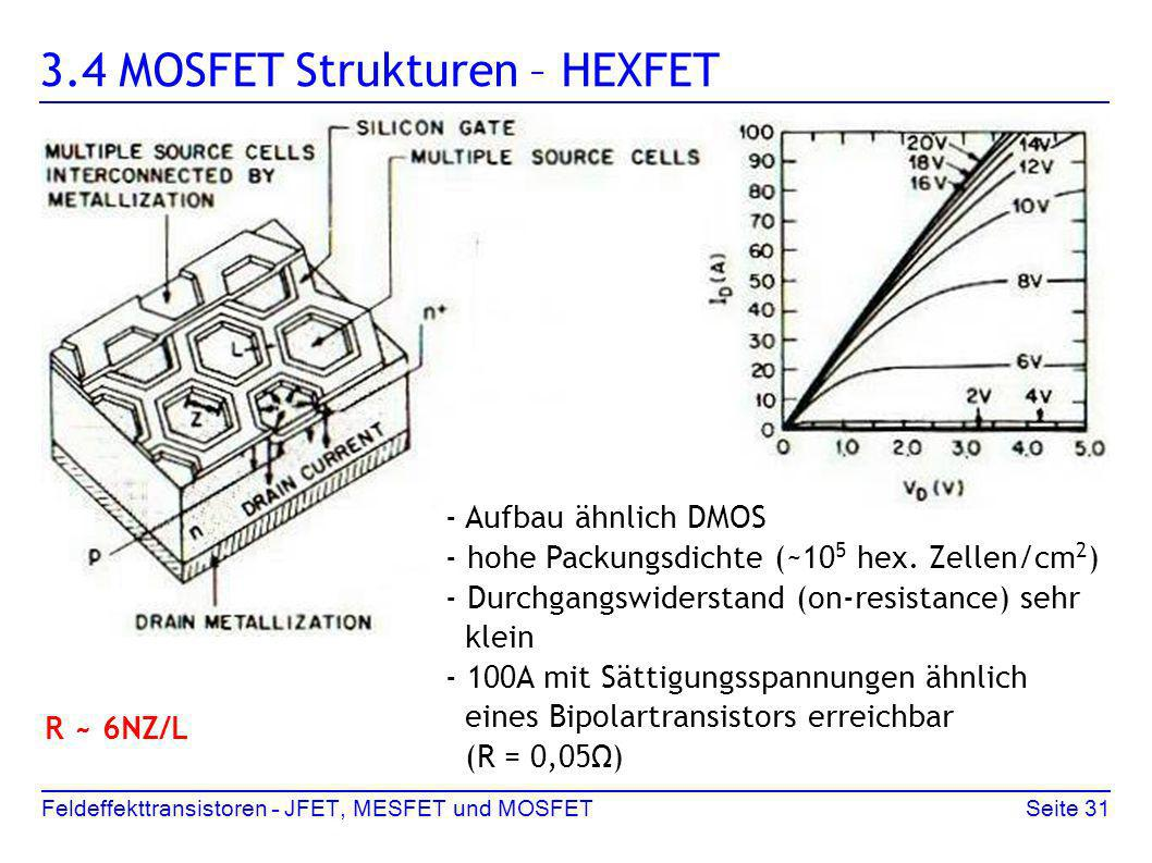 3.4 MOSFET Strukturen – HEXFET