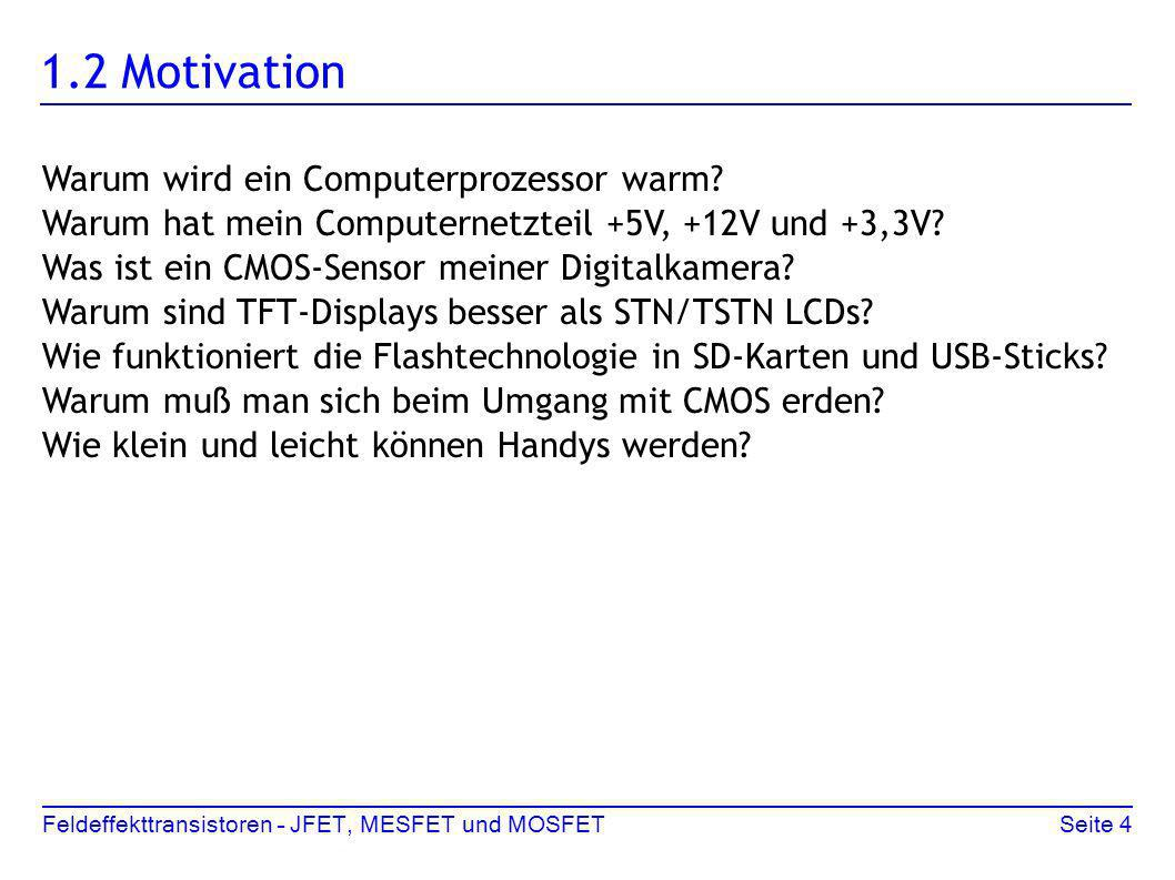 1.2 Motivation Warum wird ein Computerprozessor warm