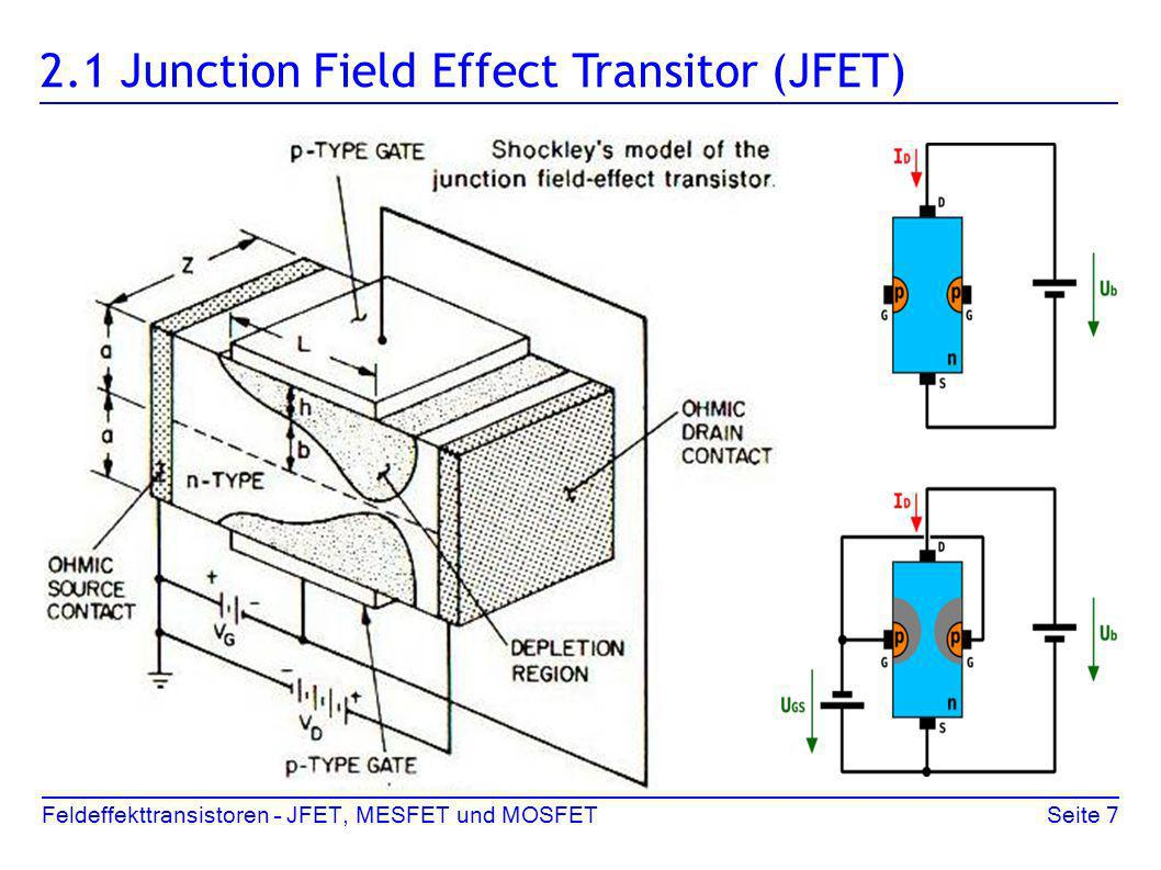 2.1 Junction Field Effect Transitor (JFET)