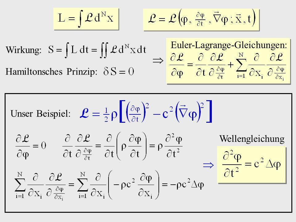   Euler-Lagrange-Gleichungen: Wirkung: Hamiltonsches Prinzip: