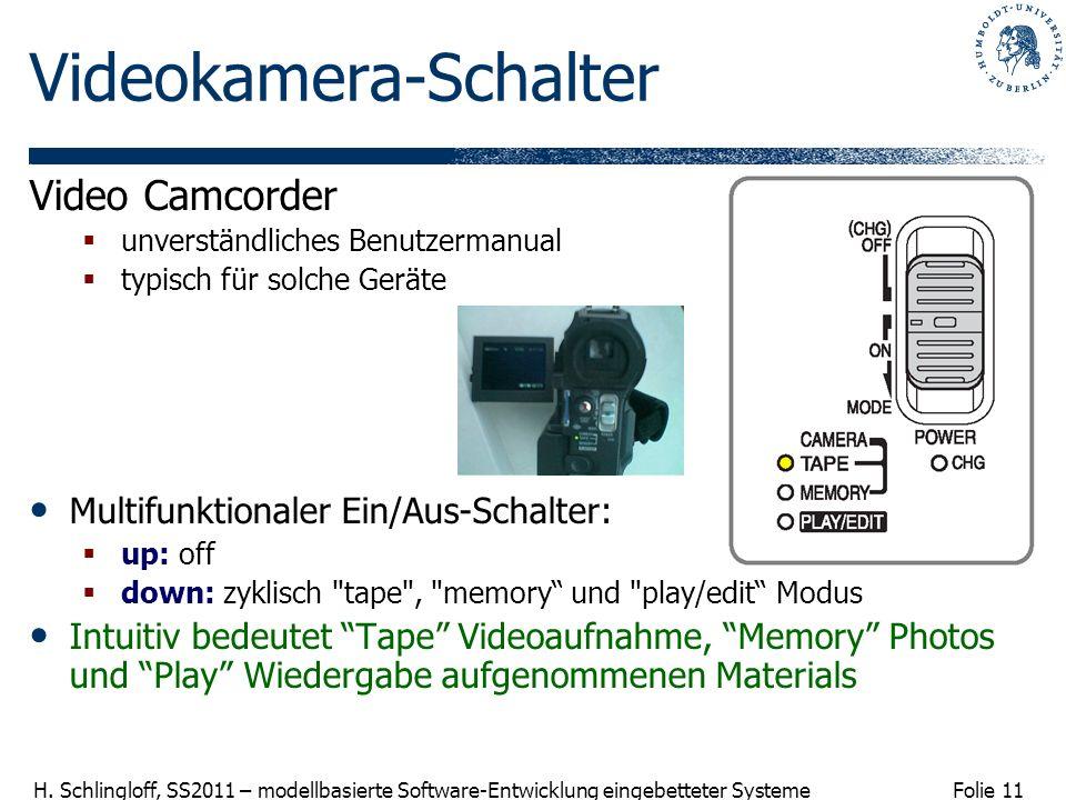 Videokamera-Schalter