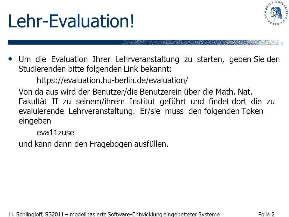 Lehr-Evaluation! Um die Evaluation Ihrer Lehrveranstaltung zu starten, geben Sie den Studierenden bitte folgenden Link bekannt: