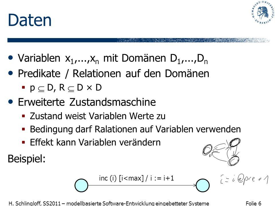 Daten Variablen x1,...,xn mit Domänen D1,...,Dn