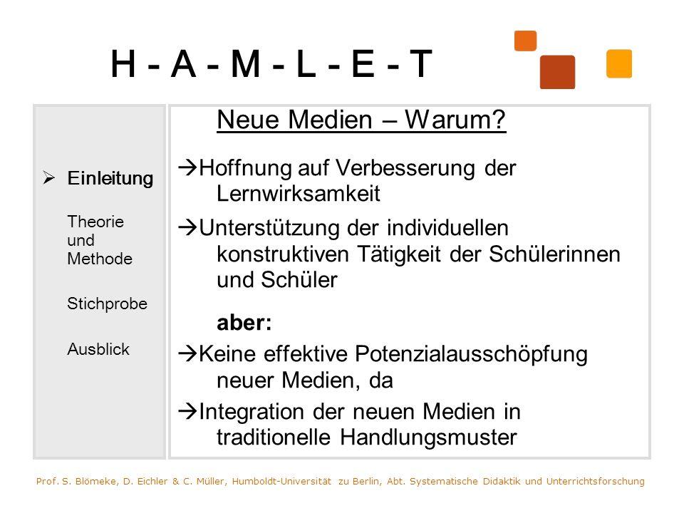 H - A - M - L - E - T Neue Medien – Warum