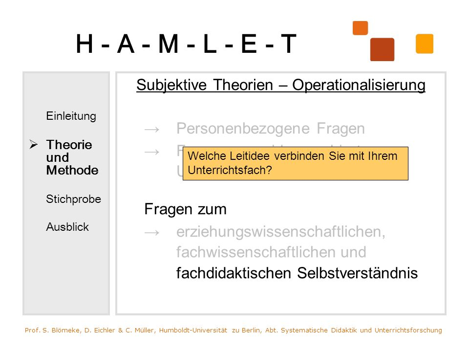 Subjektive Theorien – Operationalisierung