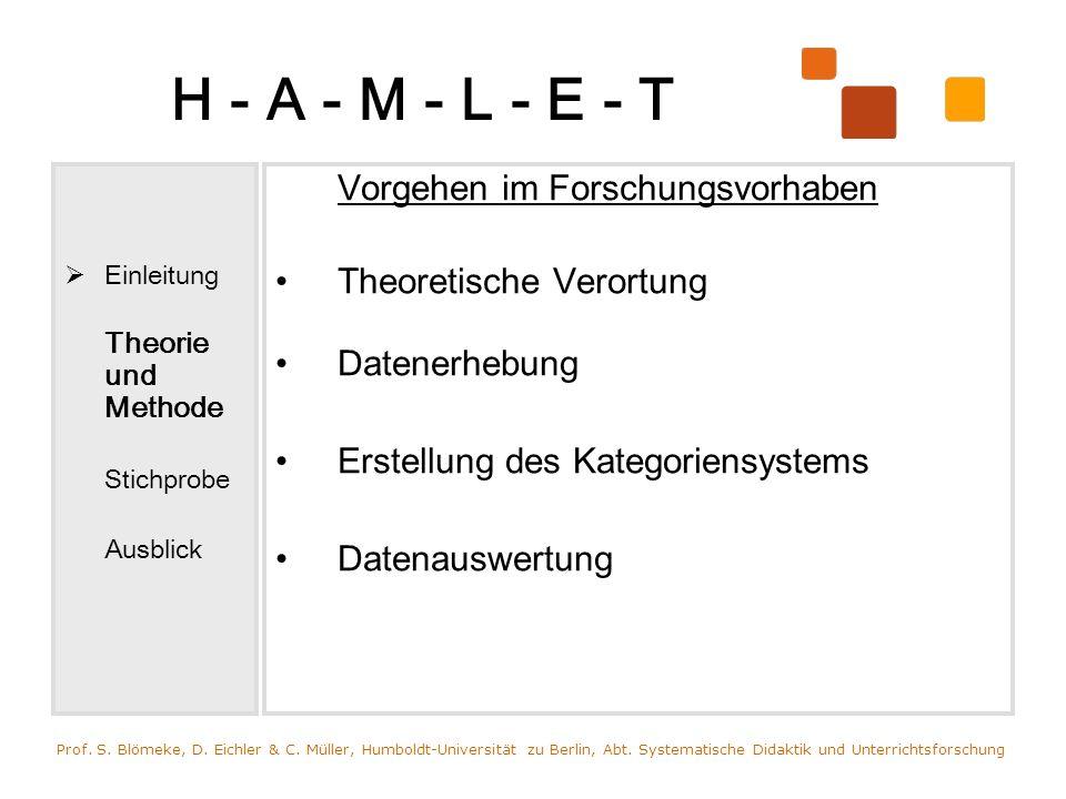 H - A - M - L - E - T Vorgehen im Forschungsvorhaben