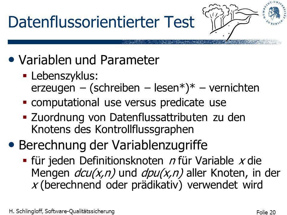 Datenflussorientierter Test