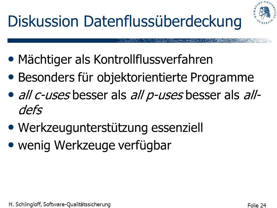 Diskussion Datenflussüberdeckung