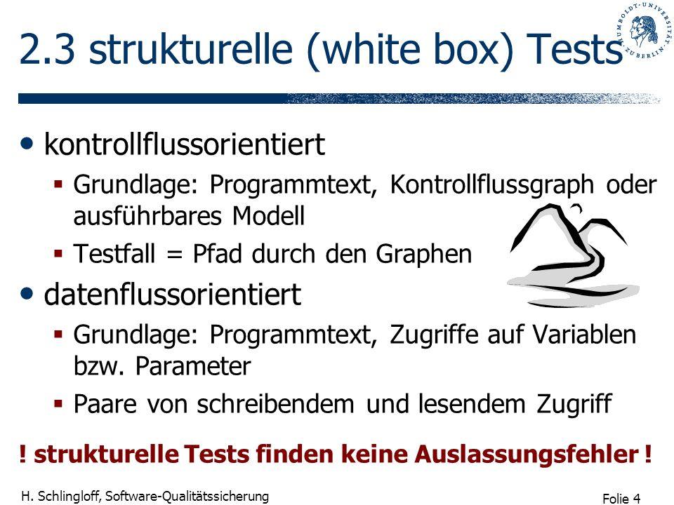 2.3 strukturelle (white box) Tests