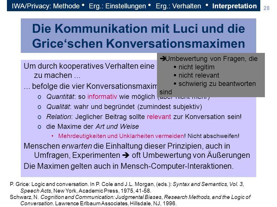 Die Kommunikation mit Luci und die Grice'schen Konversationsmaximen