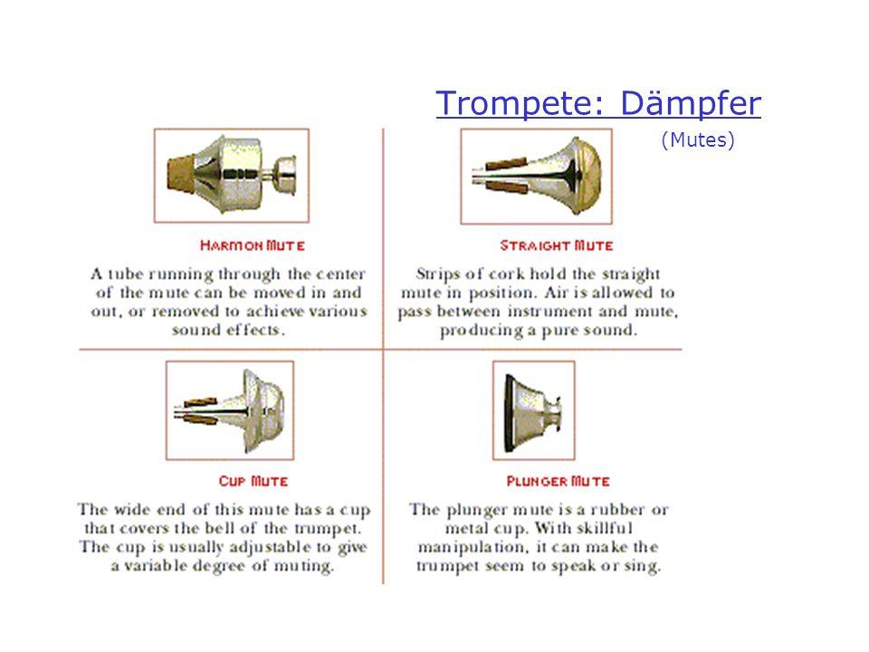 Trompete: Dämpfer (Mutes) Plunger = Kolben