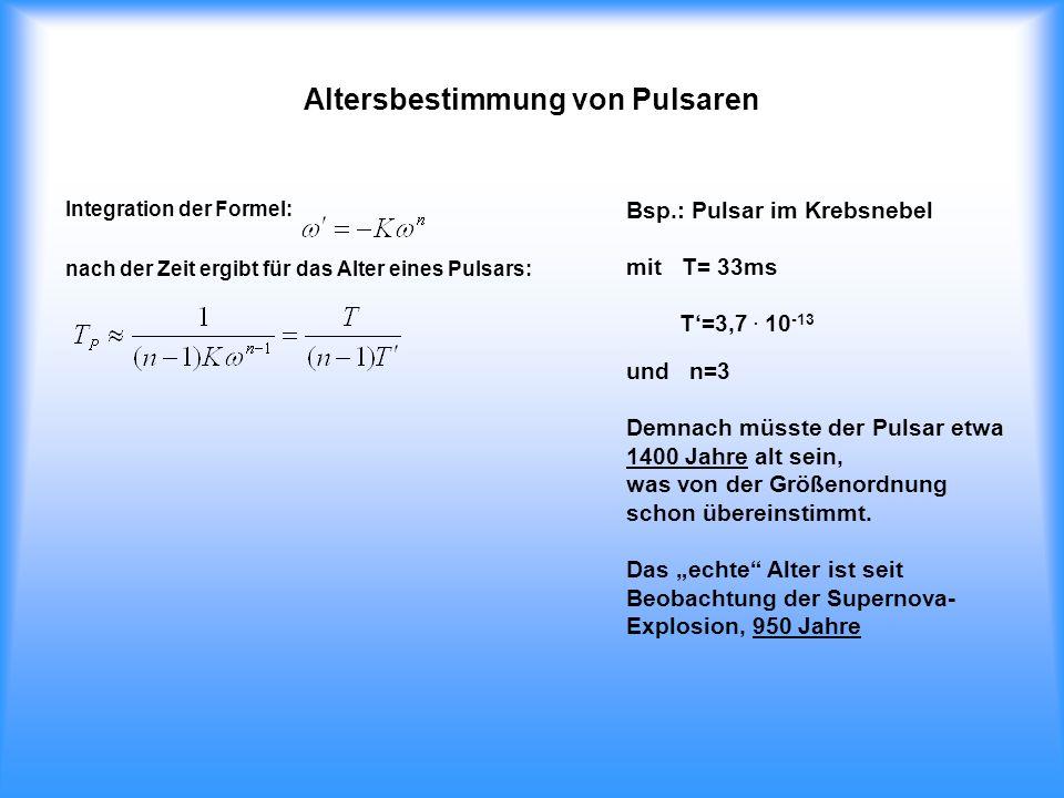 Altersbestimmung von Pulsaren