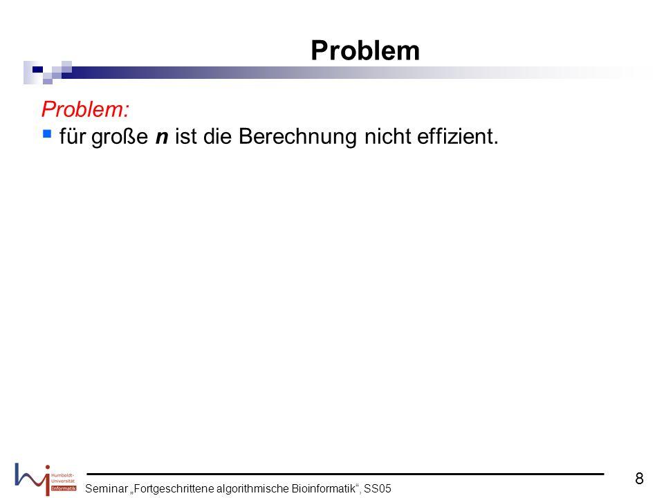 Problem: für große n ist die Berechnung nicht effizient.