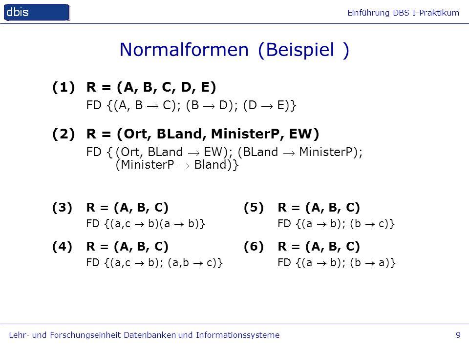 Normalformen (Beispiel )