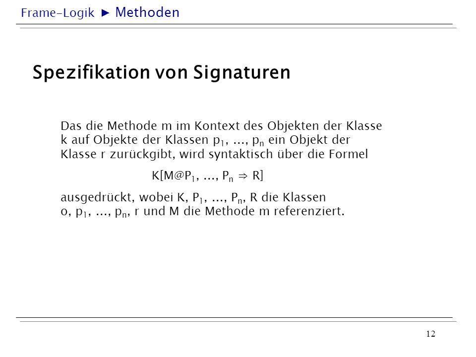 Spezifikation von Signaturen