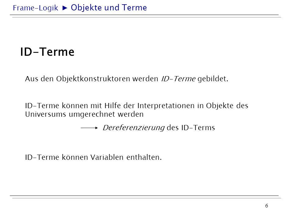 ID-Terme ▶ Objekte und Terme