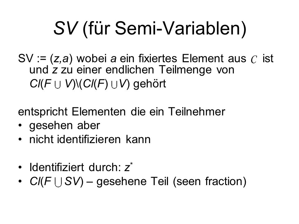 SV (für Semi-Variablen)