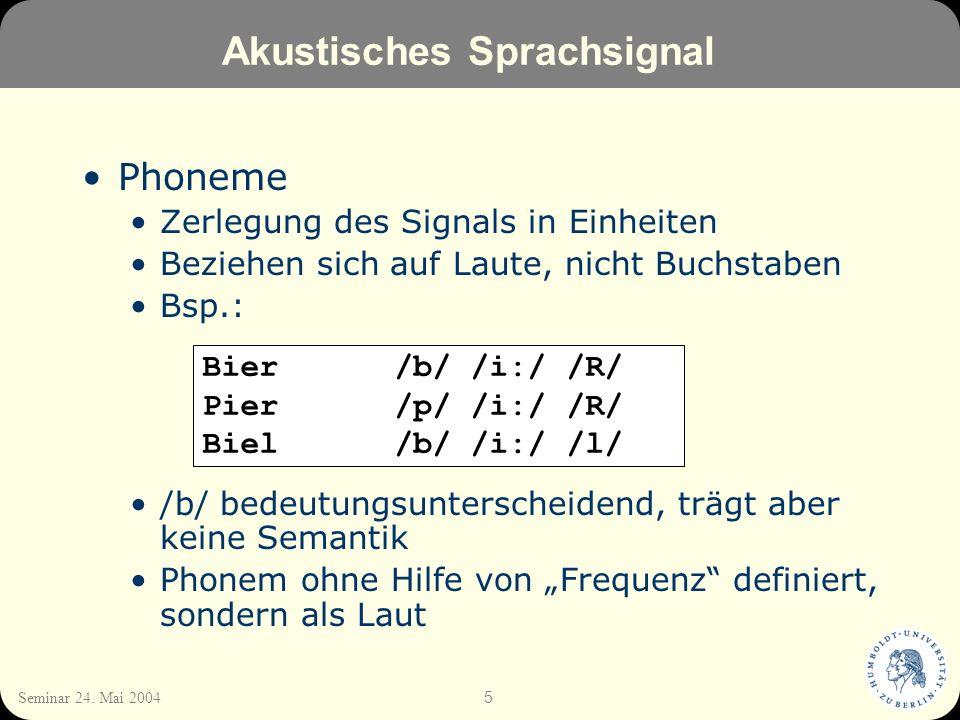 Akustisches Sprachsignal