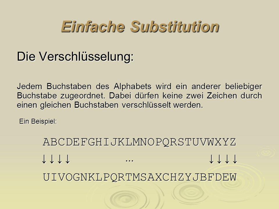 Einfache Substitution