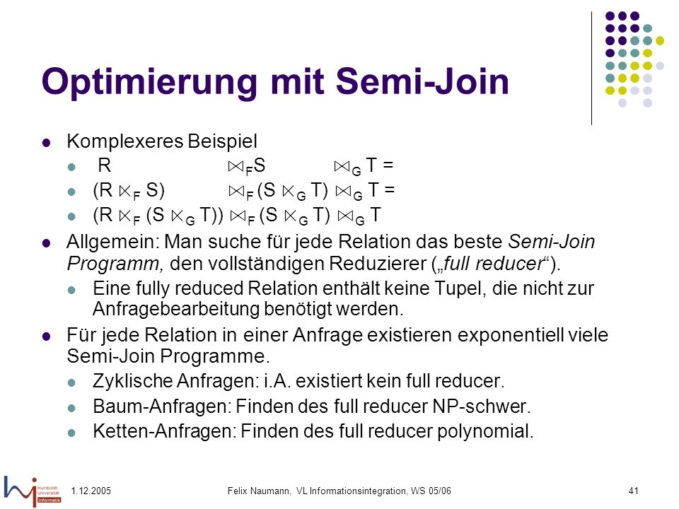 Optimierung mit Semi-Join