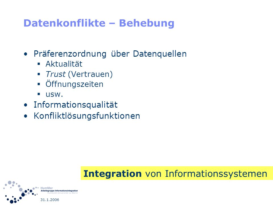 Datenkonflikte – Behebung