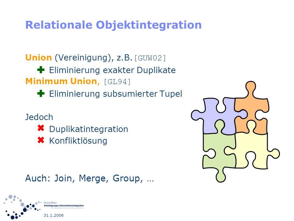 Relationale Objektintegration