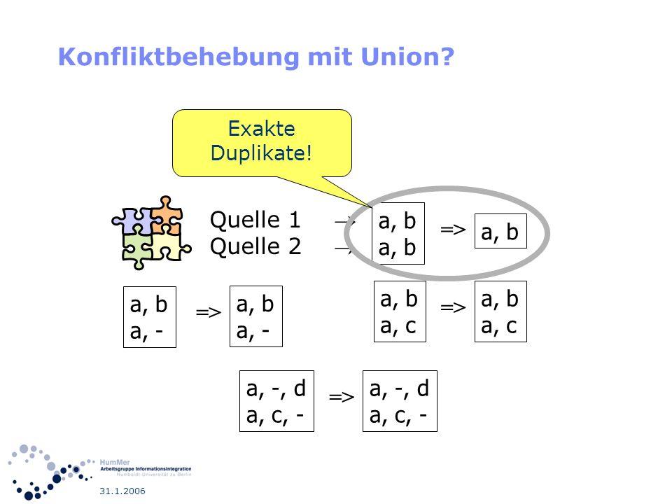 Konfliktbehebung mit Union