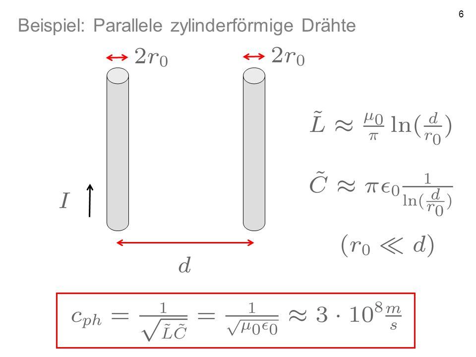 Beispiel: Parallele zylinderförmige Drähte