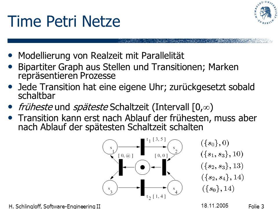 Time Petri Netze Modellierung von Realzeit mit Parallelität