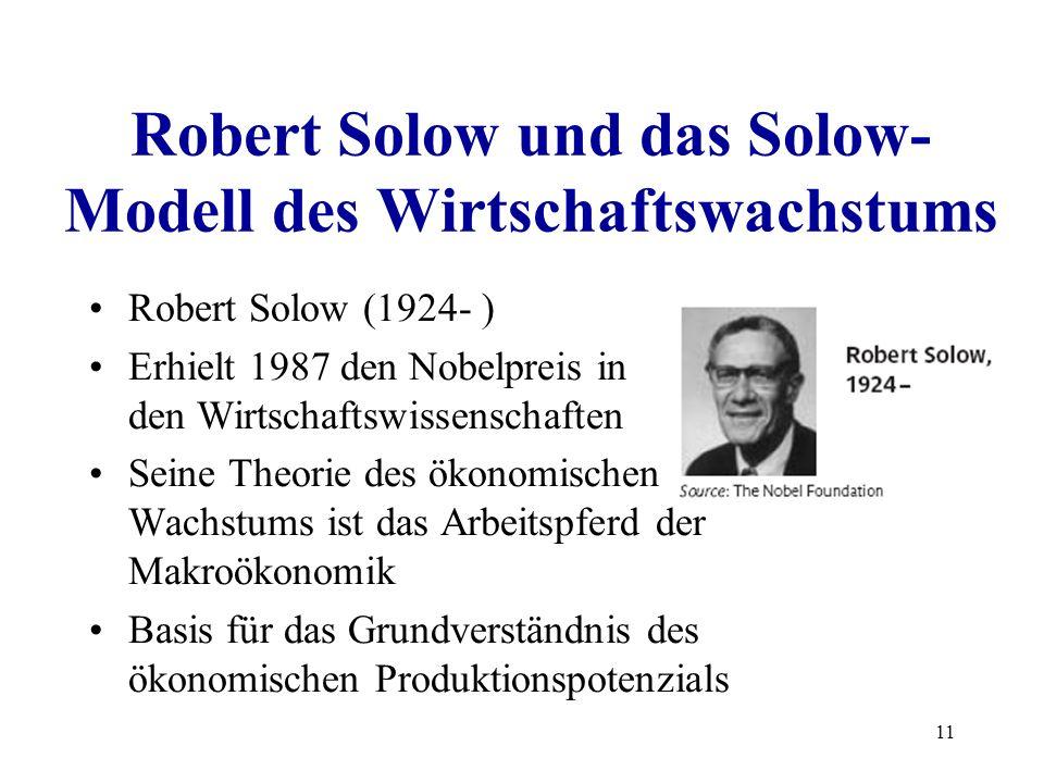 Robert Solow und das Solow-Modell des Wirtschaftswachstums