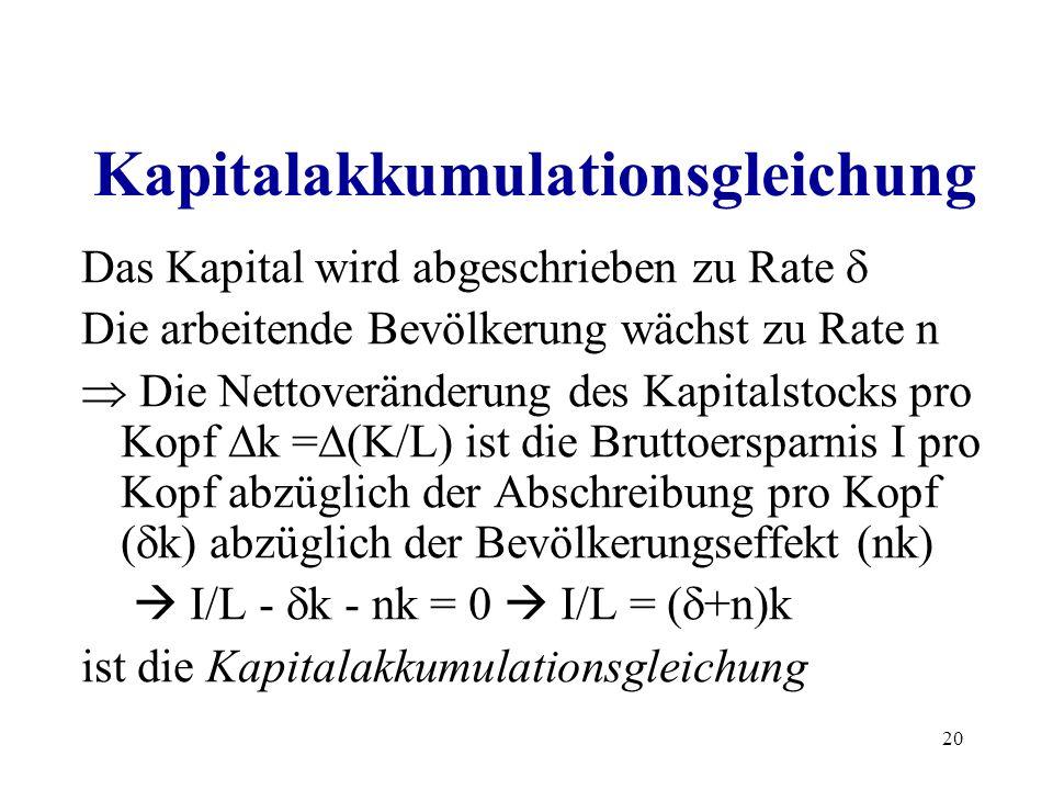 Kapitalakkumulationsgleichung