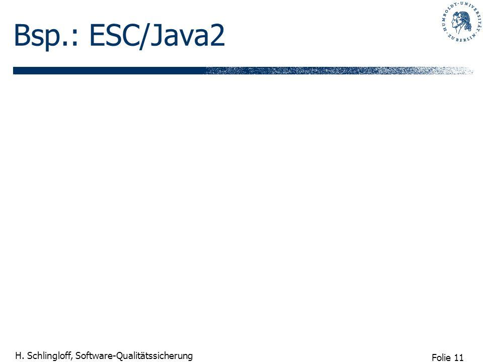 Bsp.: ESC/Java2